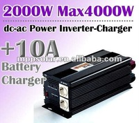 2000w surge 4kw 12V DC to AC 10A sine wave inverter power inverter charger