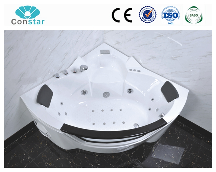 Portable whirlpool bathtub free standing massage bathtub with stainless steel frame under tub