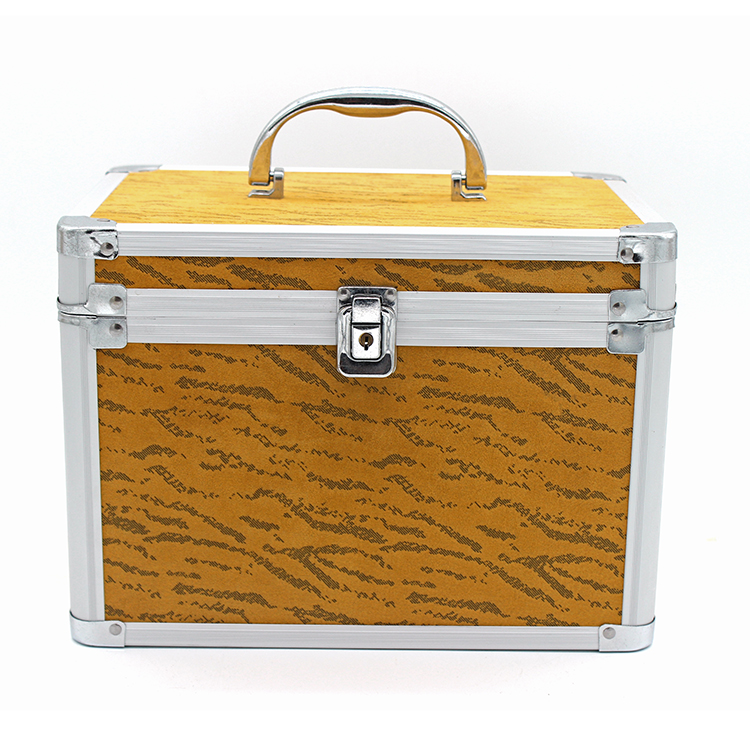 Fashion aluminum mirror jewel box makeup tool box <strong>hard</strong> makeup <strong>case</strong>