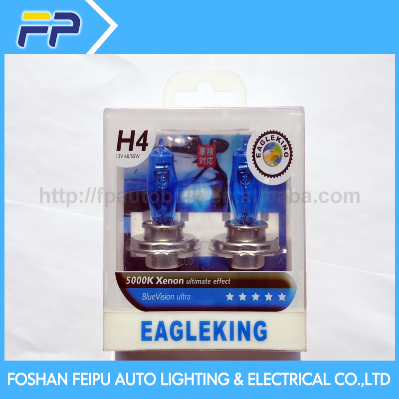 FP Super white car lamp H4 plastic box packing, auto bulb, xenon bulb