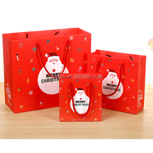 In stock fast shipping lovely christmas paper bag for packing gift