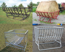 For sale Custom Goat / Sheep Feed Troughs For Hay Conserver Bale Feeder/livestock feed trough