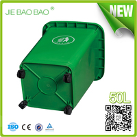 plastic euro dustbin 50 liter hdpe pp containers household garden printed gabage can rectangular waste bin