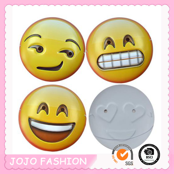 2016 Halloween new PVC face mask cute Emoji Face mask/