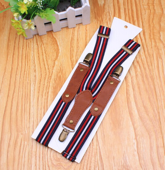 metal clips fashion canvas suspender mens with wholesale price