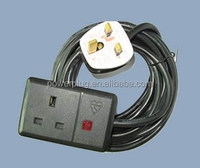 2015 hot sale Bratain type high quality 220v UK Ac power Cord plug with British Socket