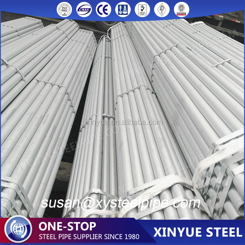 Q235 STEEL 48MM SCAFFOLD GALVANIZED PIPE 6 METER