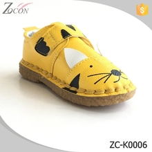Funny design animal pattern leather casual kids shoes