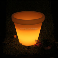 Outdoor garden plastic glowing rechargeable led fruit pots with remote control