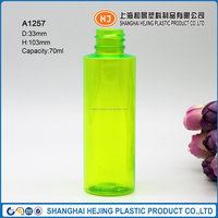 70ml green clear pet plastic empty hand sanitizer bottle