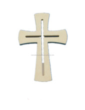Hot sale customized color wooden cross with stand