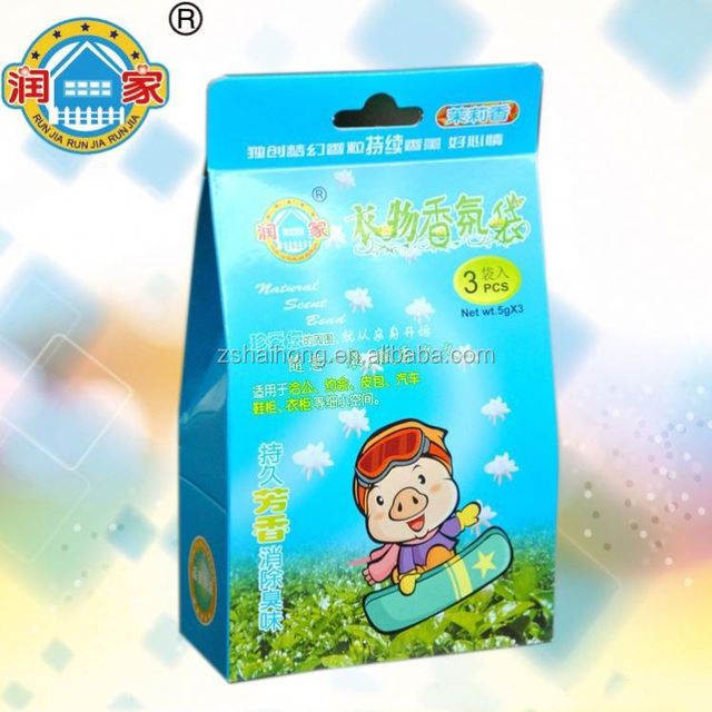 Christmas promotional gifts aroma wardrobe fragrance sachet scented paper drawstring sachet bag