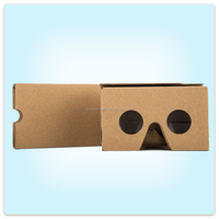 High Quality Google Cardboard VR Headset Google Cardboard Version 2 works with 3.5-6 inch smart phone