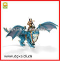 Most popular high quality unique 3d plastic pvc action figure with dragon toy