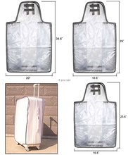 Custom Waterproof PVC Clear Plastic Suitcase Luggage Cover
