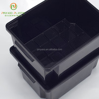 Customized various color high quality long plastic containers