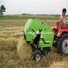 round hay crop/grass/wheat straw bundling machine; mini hay baler; wheat straw pressing machine for sale