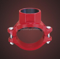 Grooved Pipe Fittinggrooved fittings for Fire Protectin Water and Oil Supply FM UL Sprinkler System PN16 2''60