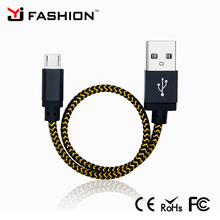 Shenzhen High Quality 20CM Nylon Braided Data Charger USB cable for Apple and android phone
