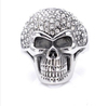 Customized 925 sterling silver pave cz skull head ring