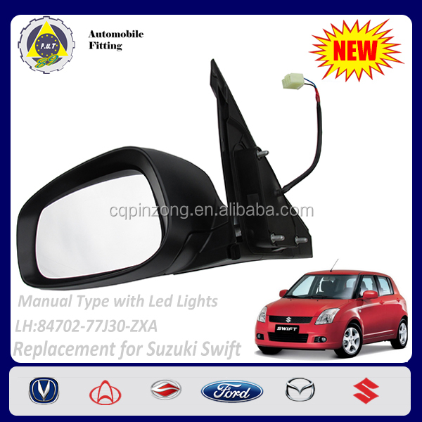 Car Body Parts Manual with LED lights 2 Lines LH Side View Mirror For Suzuki Swift 1.3L OEM 84702-77J30-ZXA