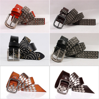 YD06 Punk Studded leather obi belt