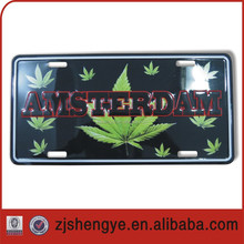 Aluminum custom novelty embossed American promotional license plate