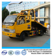 small dongfeng 4x2 5 ton slid flatbed recovery truck