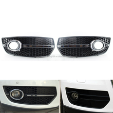 Front Lower Side Bumper Fog Light Grille Pair fit for Audi Q5 13-16