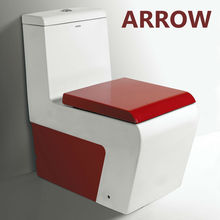 2018 new design one piece colorful sanitary ware red toilet
