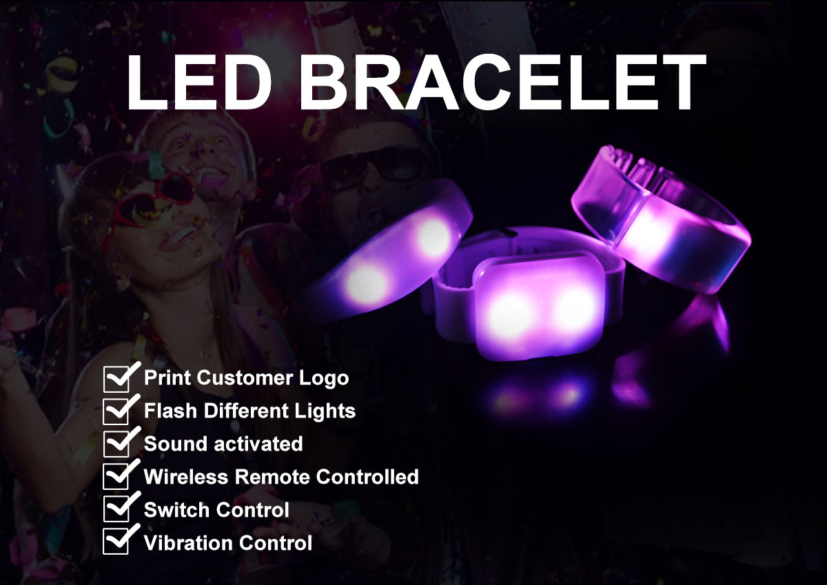 led bracelet remote controlled