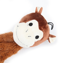 Wholesale brown color stuffing cat and dog monkey toy