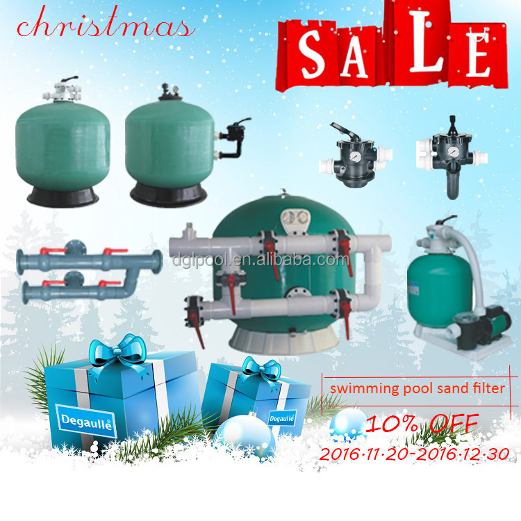 2016 Christmas Sale Guangzhou Factory Degaulle Swimming Pool Sand Filter Tank With Multiport Valves