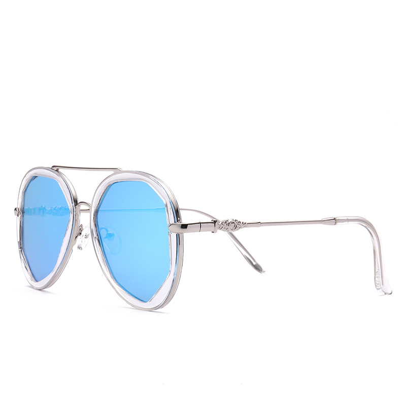 New Fashion Metal Neon Frog Lens Sunglasses Design For Woman