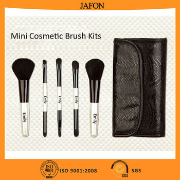 Novelty 5pcs gift promotional makeup brush set