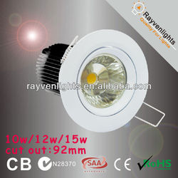 15W Citizen dimmable 0-100% LED Downlight Fitting 92mm Cutout