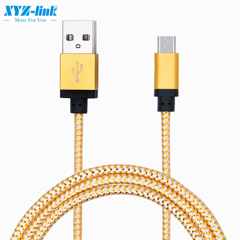 Aluminum fast charging data sync micro usb cable for android for iPhone