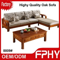 Sofa set living room furniture 8809# weight of sofa bed with fabric removable cover factory supply