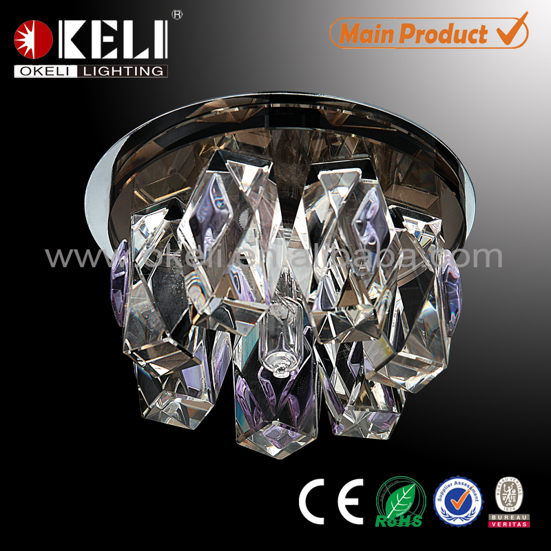 cheapest modern crystal ceiling decoration light made in China