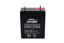 Most Popular China Battery 2V 100ah Solar DC Panel Battery
