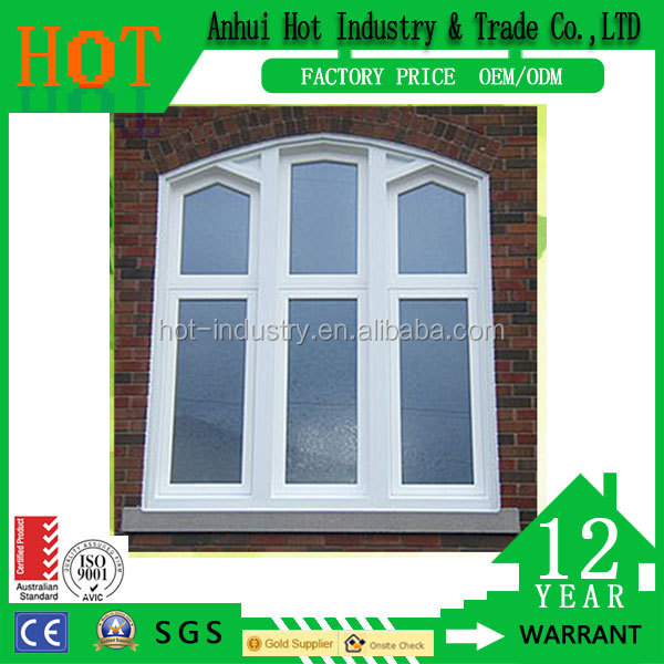 Economical style cheap price pvc house window design pvc fixed window for home