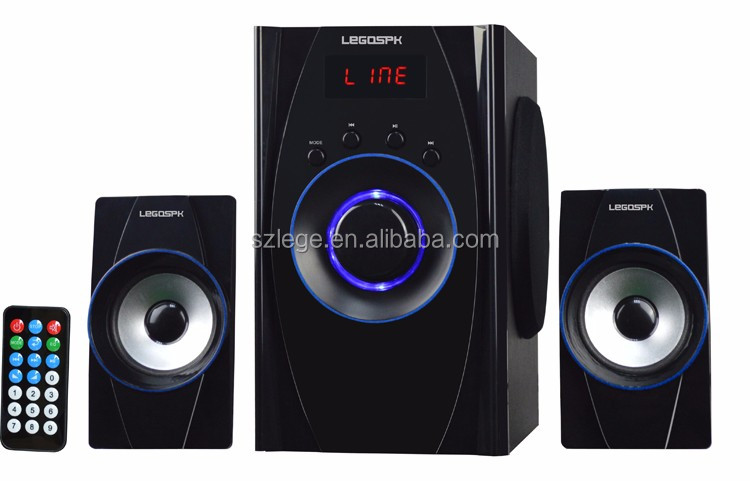 Made in China 2.1 speaker With a screen home theatre speaker system,deep bass speaker