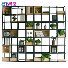 Popular design double sided iron bookshelf double faced iron and wood bookshelf commercial school library furniture