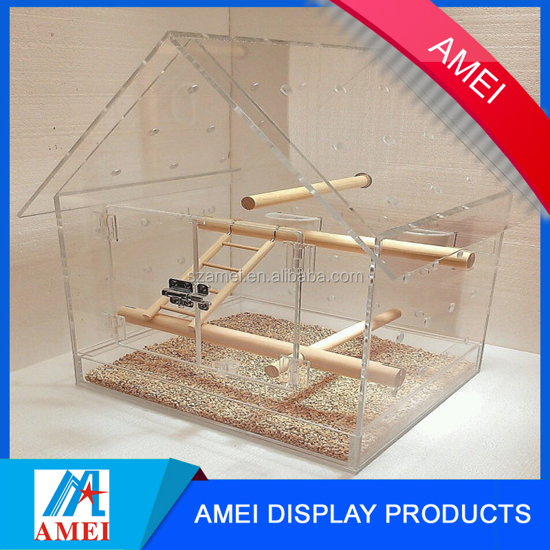 2017 wholesale pop acrylic pet bird cage /acrylic