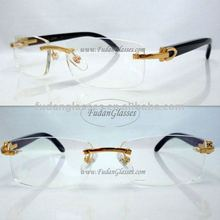buffalo horn eyewear frame buffalo horn optical frames rimless eyeglass frame CT3524012 gold