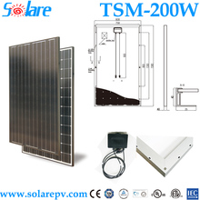 Hot sell Mono solar PV module 200Watt for home system