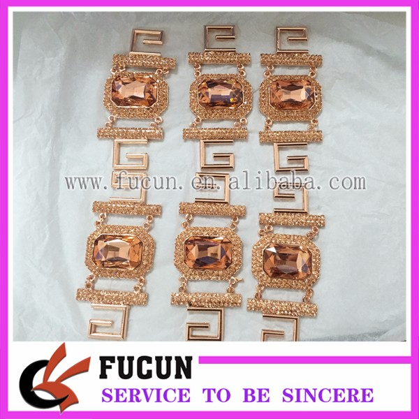 Best Sale!!! High Quality Gorgeous Rose Gold Jewelry Bikini Clasp Buckle Connector for Competition Bikini Suit