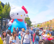 Customized New Products inflatable hello kitty for Parade