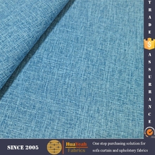 Blue woven gauze linen jute design fabric for sofa set