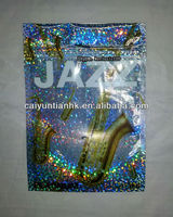 12g New Jazz potpourri smoke bags with zipper/Platinum Jazz potpourri product/Platinum Jazz herbal incense shiny bags